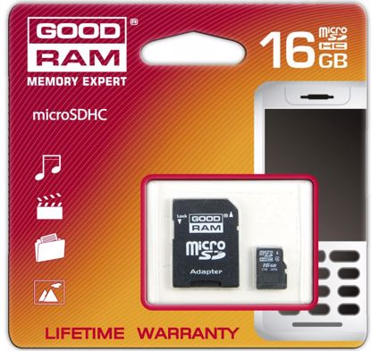 Picture of Goodram micro SDHC 16GB C4