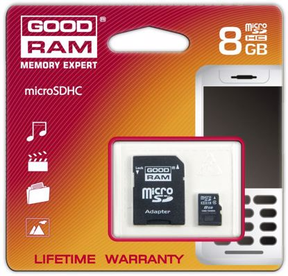 Picture of Goodram micro SDHC 8GB C4