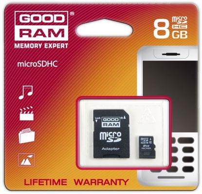 Obrazek Goodram micro SDHC 8GB C4