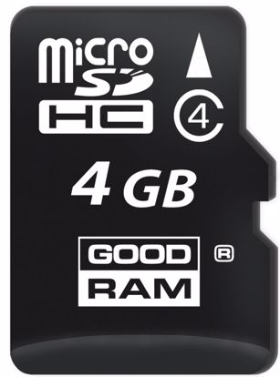 Obrazek Goodram micro SDHC 4GB C4 bez adaptera