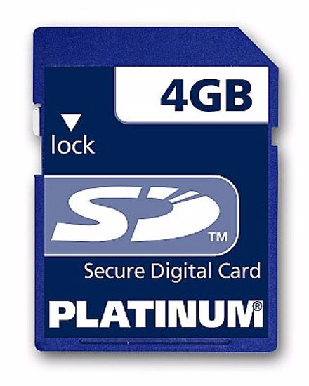 Picture of Platinum SD 4GB - NIE SDHC!
